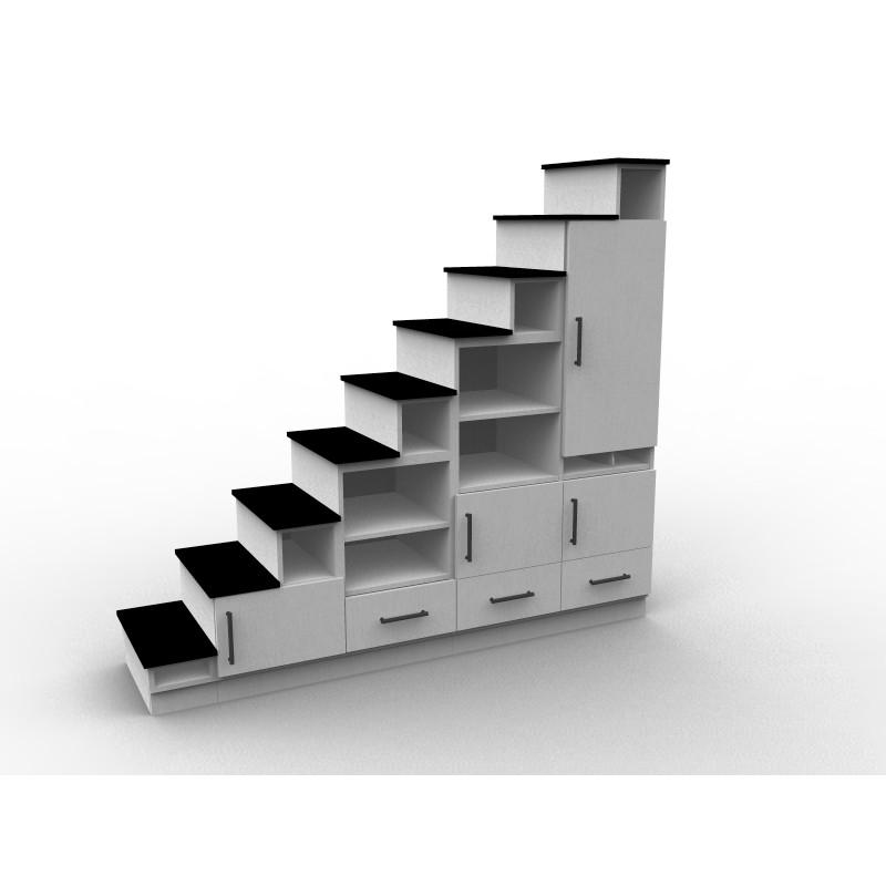 5768 Escalier pour mezzanine sur mesure - Aryga