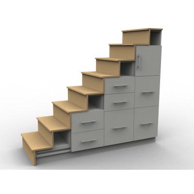 Meuble escalier avec tiroirs