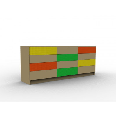 Commode de chambre bois et coloré