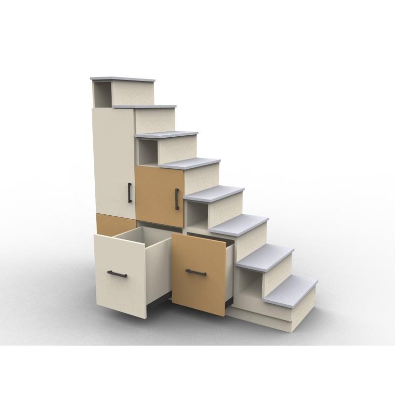 9860-Escalier pour mezzanine sur mesure - Aryga