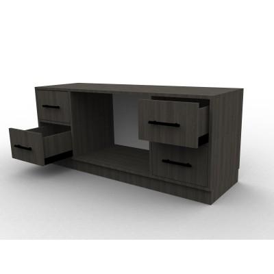 Meuble TV finition bois noir sur mesure