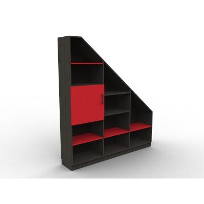 "Bibliothèque sous pente ""Red and Black"""