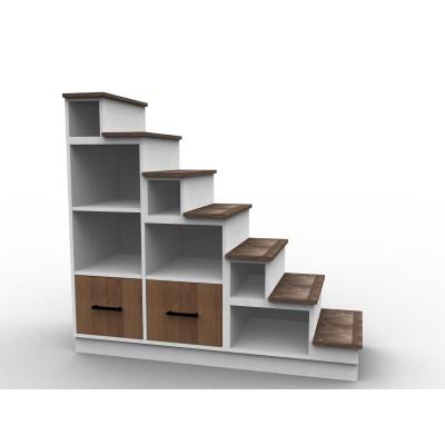 Escalier tiroirs rangement mezzanine