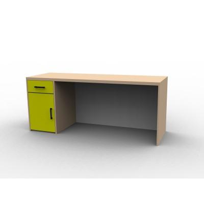 Bureau sur mesure pour enfant, coloré et en bois
