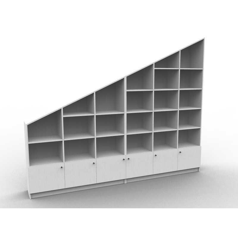 Bibliothek mit rechte schräge nach maß